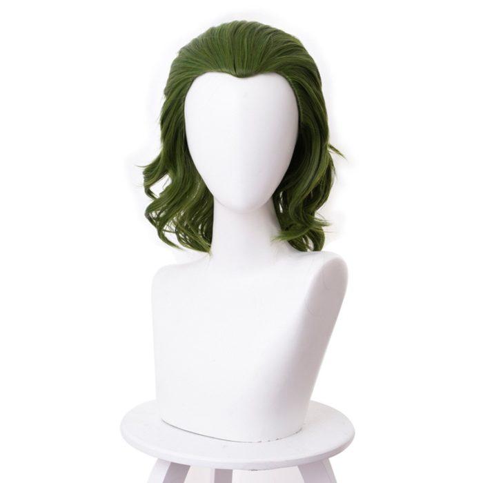 Joker Wig Movie Pennywise Joaquin Phoenix Arthur Fleck Clown Batman Cosplay Curly Green Synthetic Hair Wig with Free Wig Cap 5