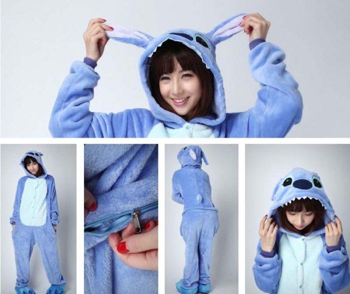 New Winter Women Men Unisex Adult Cute Cartoon Onesie Animal Pajamas unicornio Unicorn Stitch Kigurumi Flannel Nightie Sleepwear 9