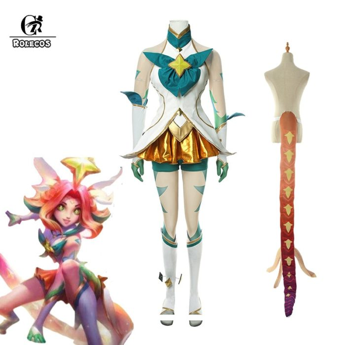 ROLECOS Game LOL Neeko Cosplay Costume Star Guardian Neeko Cosplay Costumes Suit Women Sexy Dress Halloween Uniform Full Set 1