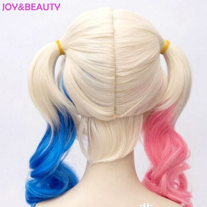JOY&BEAUTY Hair Harley Quinn Cosplay Wig Styled Wavy Synthetic Ponytail Wig High Temperature Fiber Cos Wig Free Shipping 5