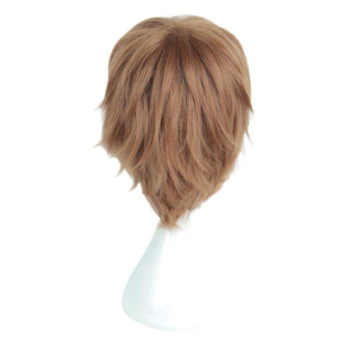 Anime Death Note Yagami Light Cos Wig Short Brown Heat Resistant Hair Pelucas Cosplay Costume Wigs + Wig Cap 5