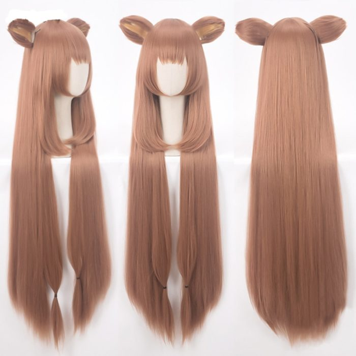 Tate no Yuusha no Nariagari Raphtalia Cosplay Wigs 100cm Long Heat Resistant Synthetic Hair Perucas Cosplay Wig + Wig Cap 1