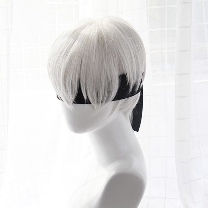 High quality YoRHa No.2 Type B 2BYoRH 2A 9S 2B wig Cosplay Wig NieR:Automata Costume Play Wigs Costumes Hair +Wig Cap 4