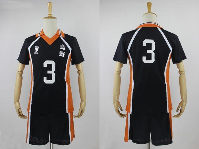 KIGUCOS 9 Styles Hot Anime Karasuno High School Sportwear Haikyuu!! Hinata Shyouy Cosplay Costumes Outfit Jerseys Uniform 12