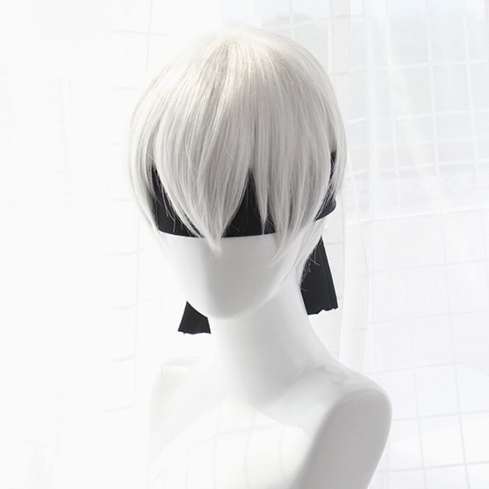 High quality YoRHa No.2 Type B 2BYoRH 2A 9S 2B wig Cosplay Wig NieR:Automata Costume Play Wigs Costumes Hair +Wig Cap 5