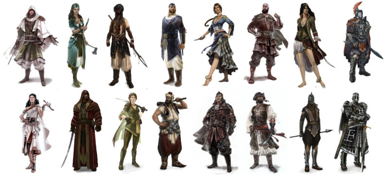 Assassin creed characters