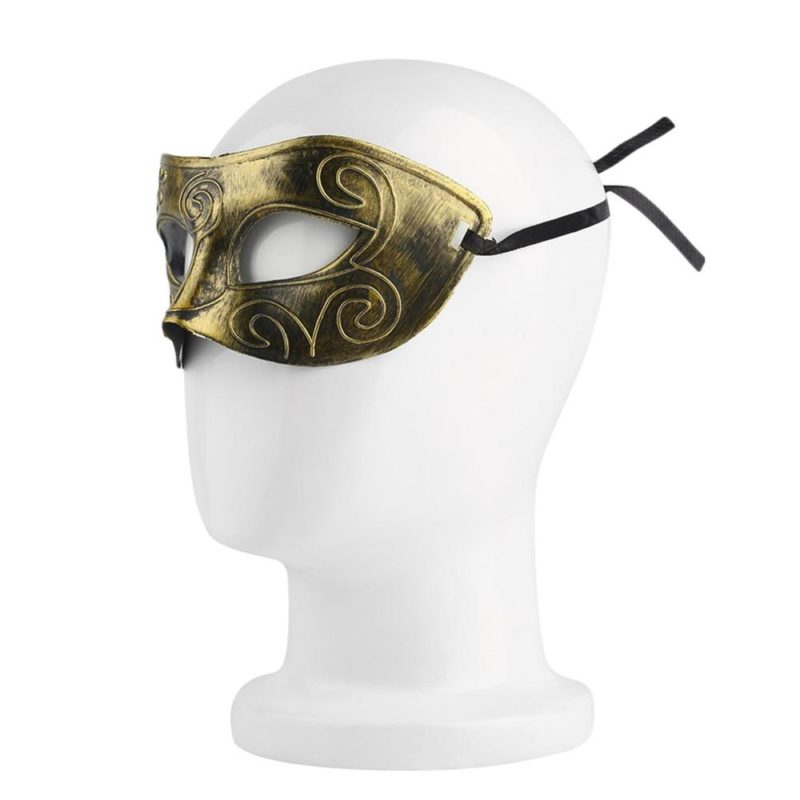 New Arrival Men's Retro Roman Gladiator Face Mask Costume Halloween Dancing Party Cosplay Anonymous Mask Free Shipping 1