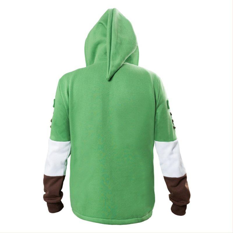 The Legend of Zelda Hoodies Lind Green Hooded Zip-up Sweatshirt Cotton Long Sleeve Coat Cosplay Costume New Arrival 3