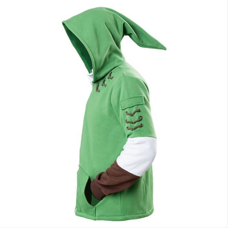 The Legend of Zelda Hoodies Lind Green Hooded Zip-up Sweatshirt Cotton Long Sleeve Coat Cosplay Costume New Arrival 4