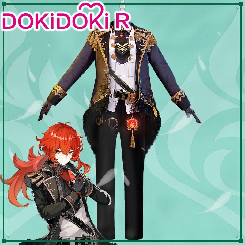 DokiDoki-R Game Genshin Impact Cosplay Diluc Cosplay Costume Game Genshin Impact Diluc Costume 1