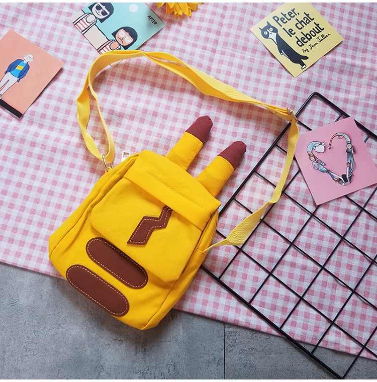 Anime Pikachu Cute Shoulder bag Snorlax handbag Cosplay Pikachu Pocket Cartoon Messenger bag For kids children Adult New Arrival 2