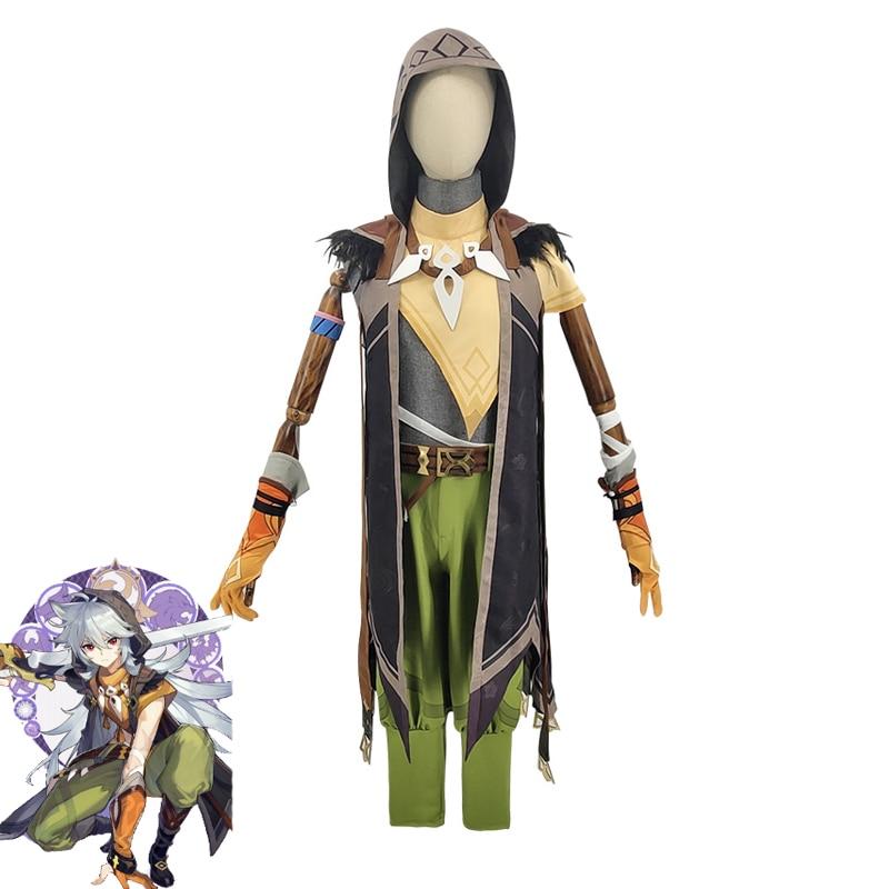 Game Genshin Impact Running Wolf RAZOR Cosplay Costume Anime Fancy Outfits Full Set Halloween Carnival Uniforms Custom Made 1