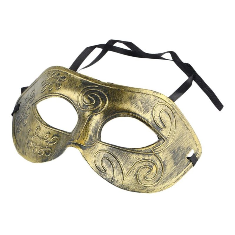 New Arrival Men's Retro Roman Gladiator Face Mask Costume Halloween Dancing Party Cosplay Anonymous Mask Free Shipping 3