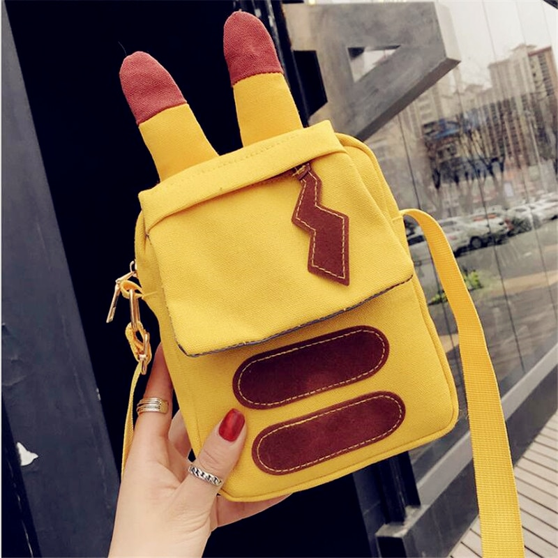 Anime Pikachu Cute Shoulder bag Snorlax handbag Cosplay Pikachu Pocket Cartoon Messenger bag For kids children Adult New Arrival 1