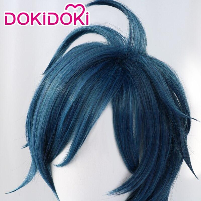 DokiDoki Game Genshin Impact Cosplay Halloween Kaeya Cosplay Wig Genshin Impact Kaeya Cosplay Hair 5