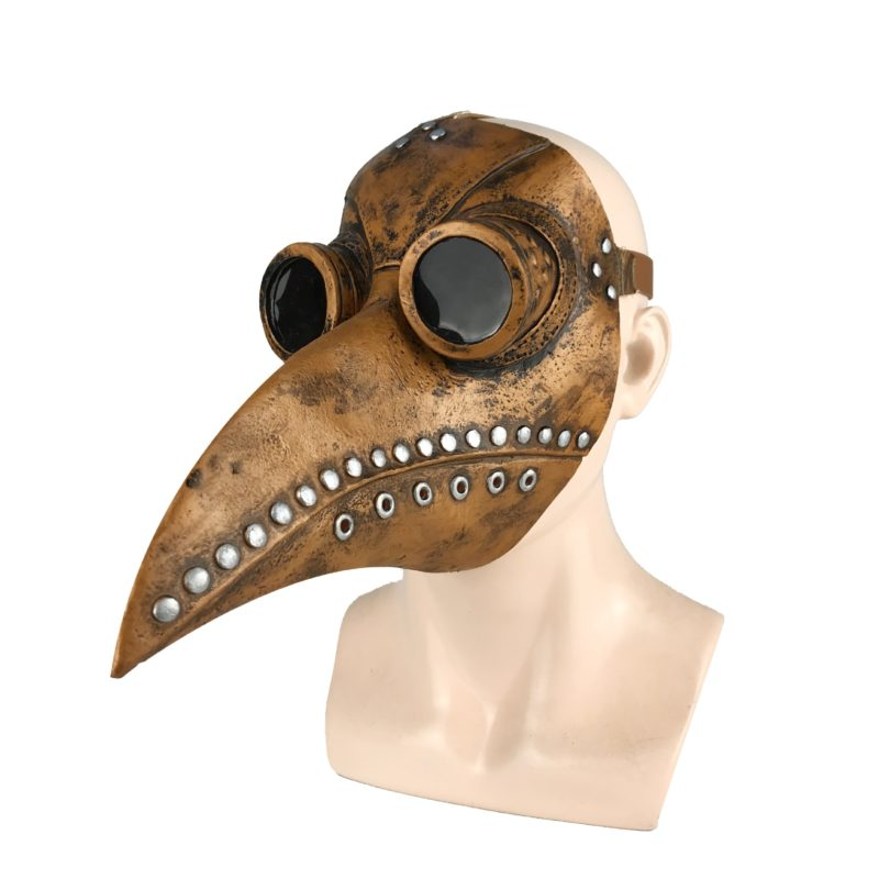 Funny Medieval Steampunk Plague Doctor Bird Mask Latex Punk Cosplay Masks Beak Adult Halloween Event Cosplay Props 6