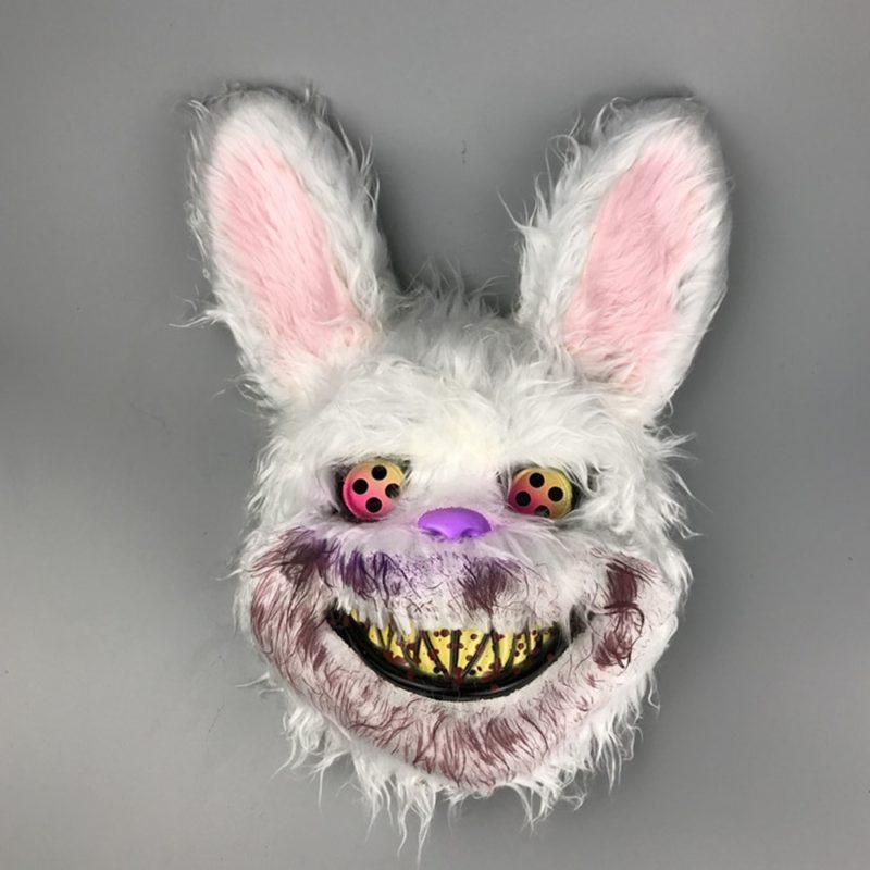 Bunny Rabbit Mask Halloween Party Plush Bunny Creepy Scary Mask Halloween Horror Mask Fancy Dress Decor Cosplay New Arrivals 2
