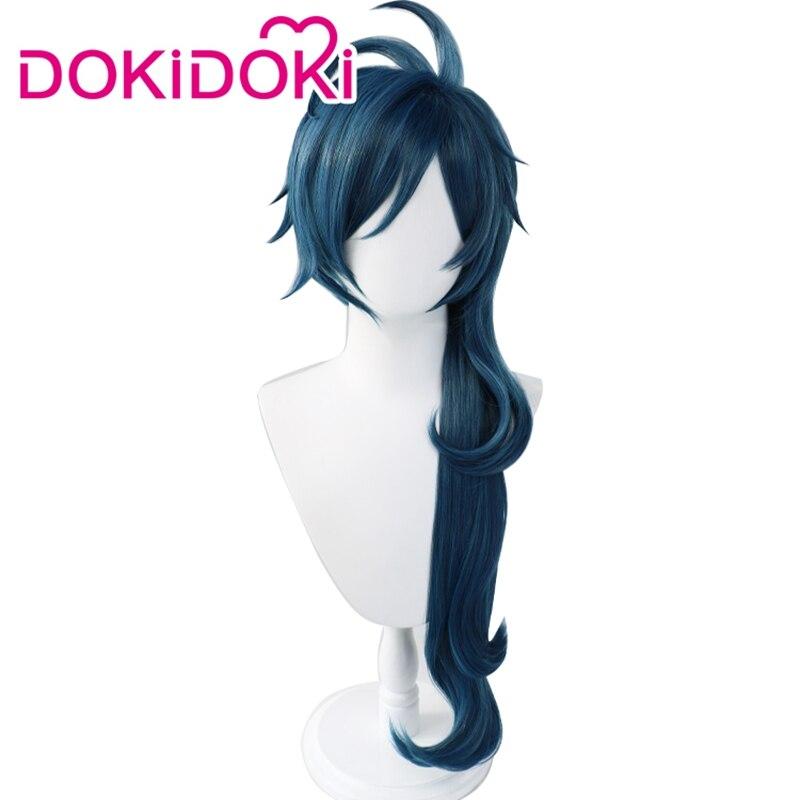 DokiDoki Game Genshin Impact Cosplay Halloween Kaeya Cosplay Wig Genshin Impact Kaeya Cosplay Hair 4