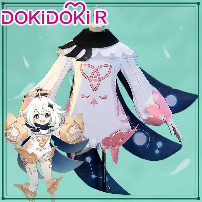 DokiDoki-R Game Genshin Impact Cosplay Paimon Cosplay Costume Game Genshin Impact Paimon Costume 1