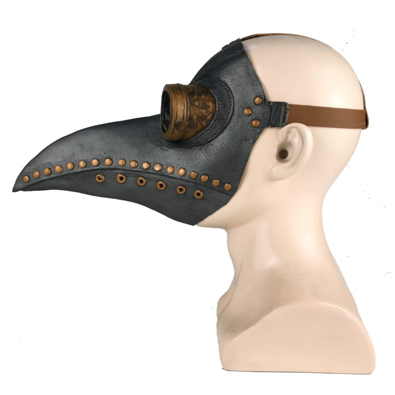 Funny Medieval Steampunk Plague Doctor Bird Mask Latex Punk Cosplay Masks Beak Adult Halloween Event Cosplay Props 4