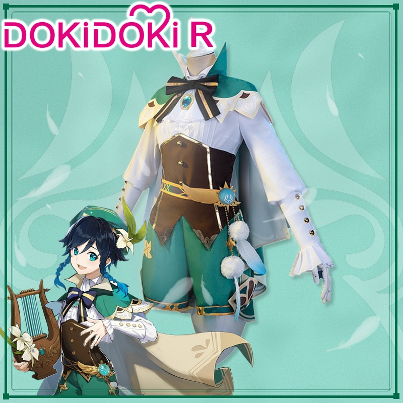 DokiDoki-R Game Genshin Impact  Cosplay Venti Cosplay Costume Genshin Impact Venti Cosplay 1