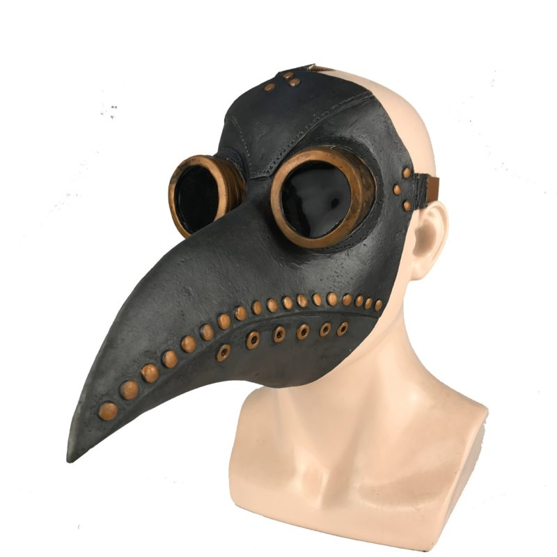 Funny Medieval Steampunk Plague Doctor Bird Mask Latex Punk Cosplay Masks Beak Adult Halloween Event Cosplay Props 2