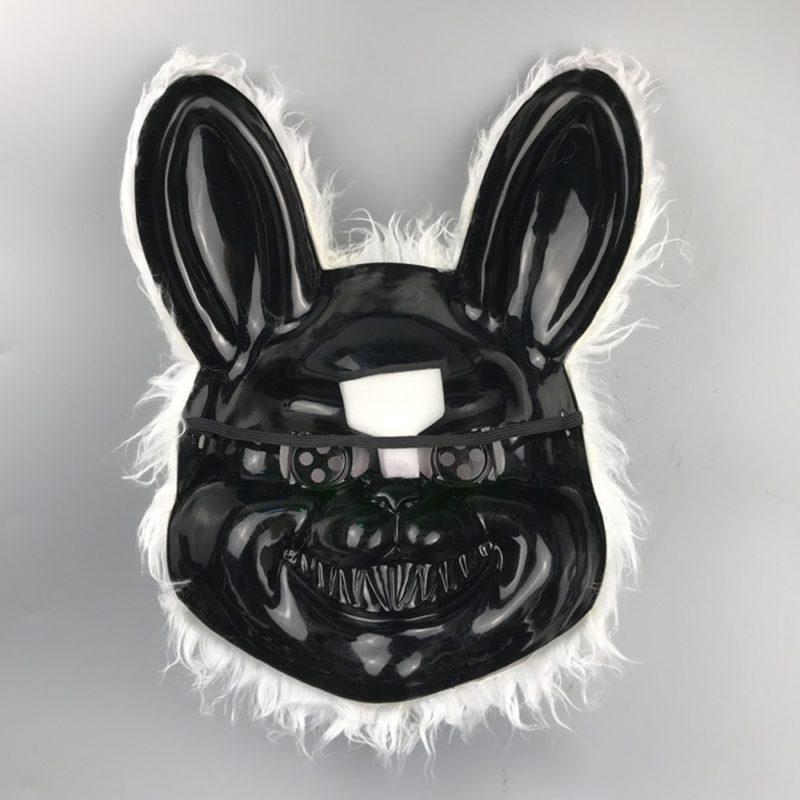 Bunny Rabbit Mask Halloween Party Plush Bunny Creepy Scary Mask Halloween Horror Mask Fancy Dress Decor Cosplay New Arrivals 5