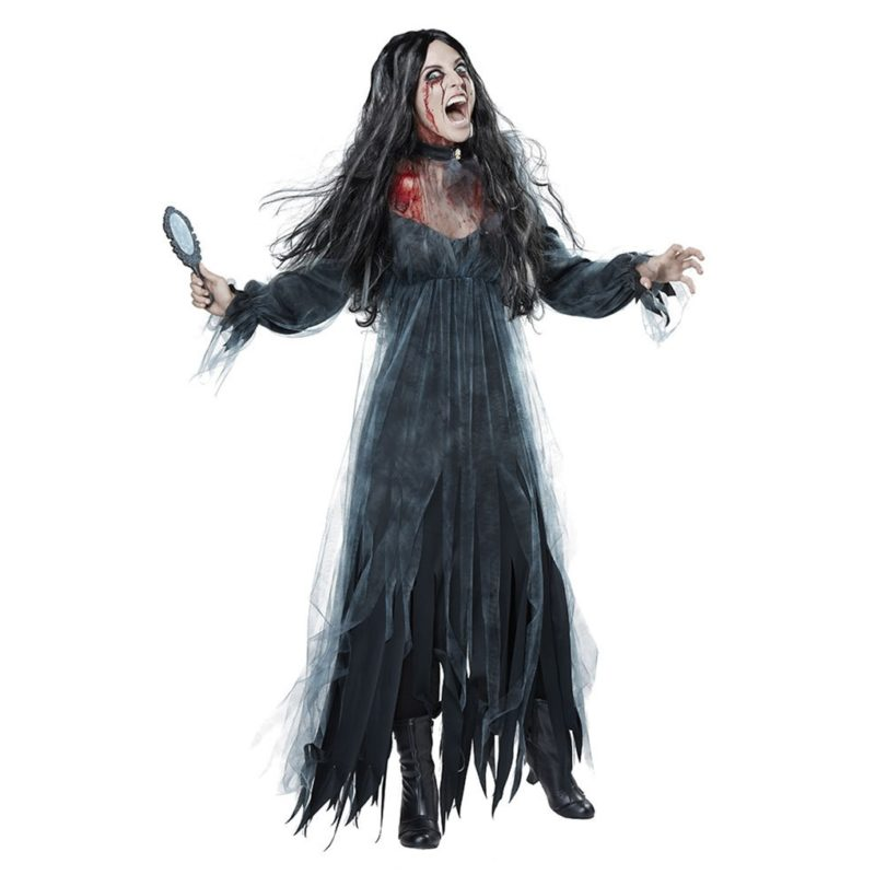 Women Cosplay Halloween Costume Horror Ghost Dead Corpse Zombie Bride Dress 2