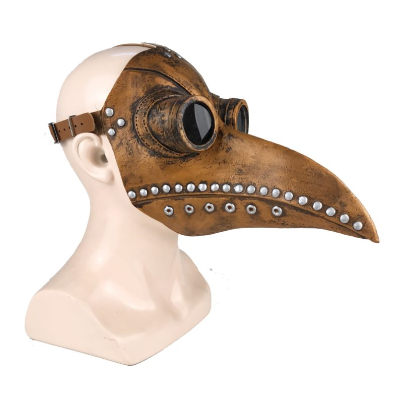 Funny Medieval Steampunk Plague Doctor Bird Mask Latex Punk Cosplay Masks Beak Adult Halloween Event Cosplay Props 5