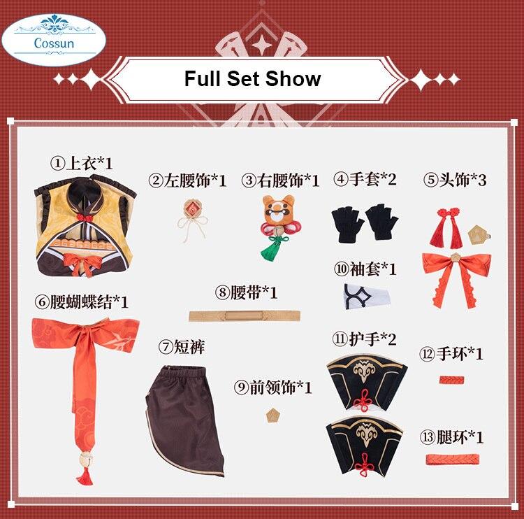 Anime Genshin Impact Xiangling Cosplay Costume Game Suit Lovely Uniform Xiang Ling Full Set Halloween Costume For Women Girls Cu 4