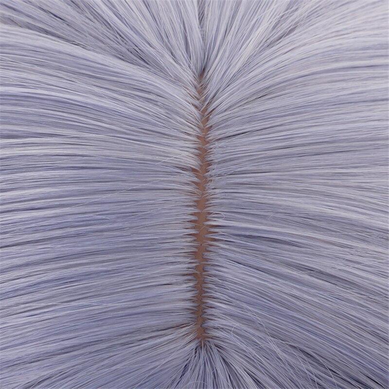 Noelle Cosplay Wig Game Genshin Impact Cosplay Short Purple Bobo Braid Hair Genshin Impact Noelle Halloween Cosplay Wigs 5