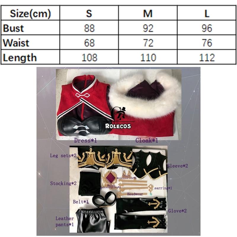 ROLECOS Genshin Impact Cosplay Costume Beidou Cosplay Costume Women Black Red Costume Halloween Dress Cloak Pants Glove Full Set 6