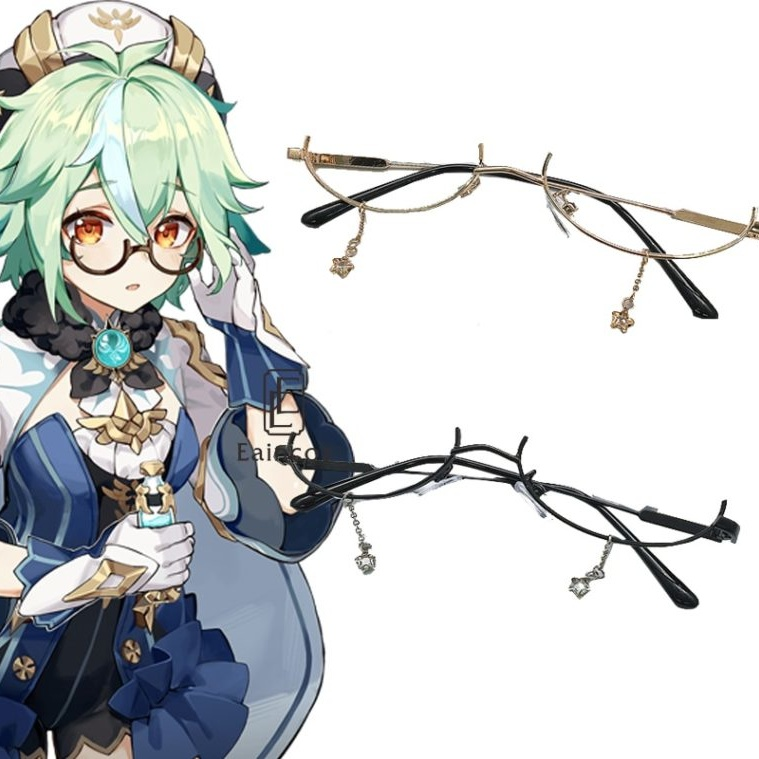 Genshin Impact Sucrose Cosplay Props Glasses Halloween Carnival Cosplay Costume Accessories 1