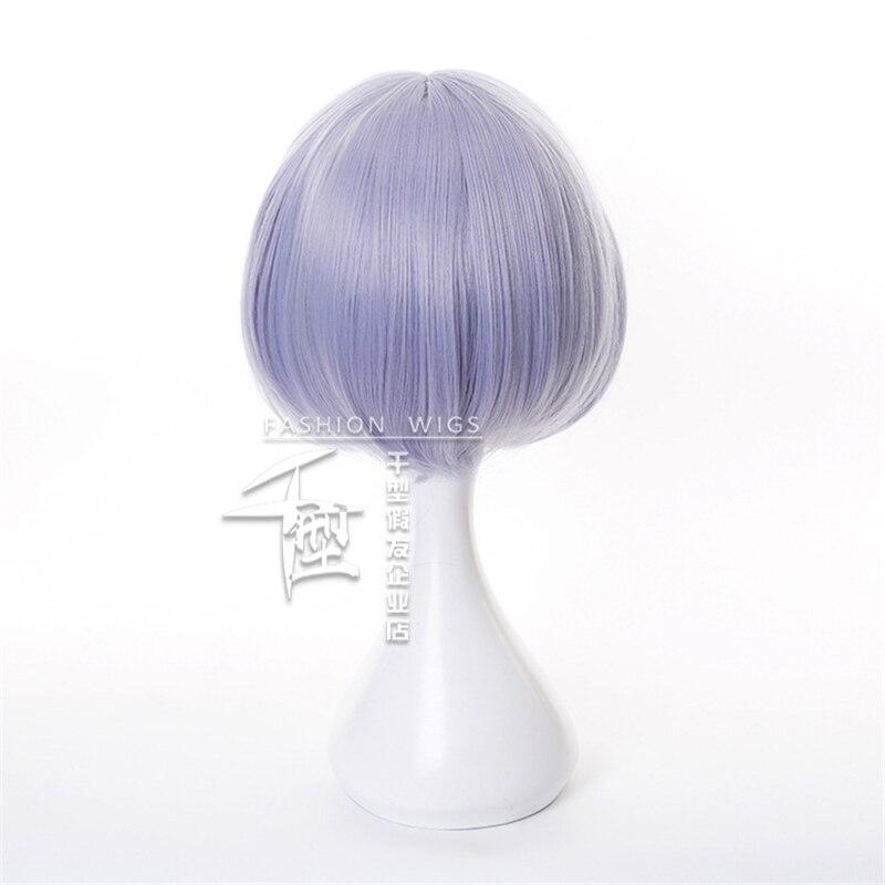 Noelle Cosplay Wig Game Genshin Impact Cosplay Short Purple Bobo Braid Hair Genshin Impact Noelle Halloween Cosplay Wigs 4