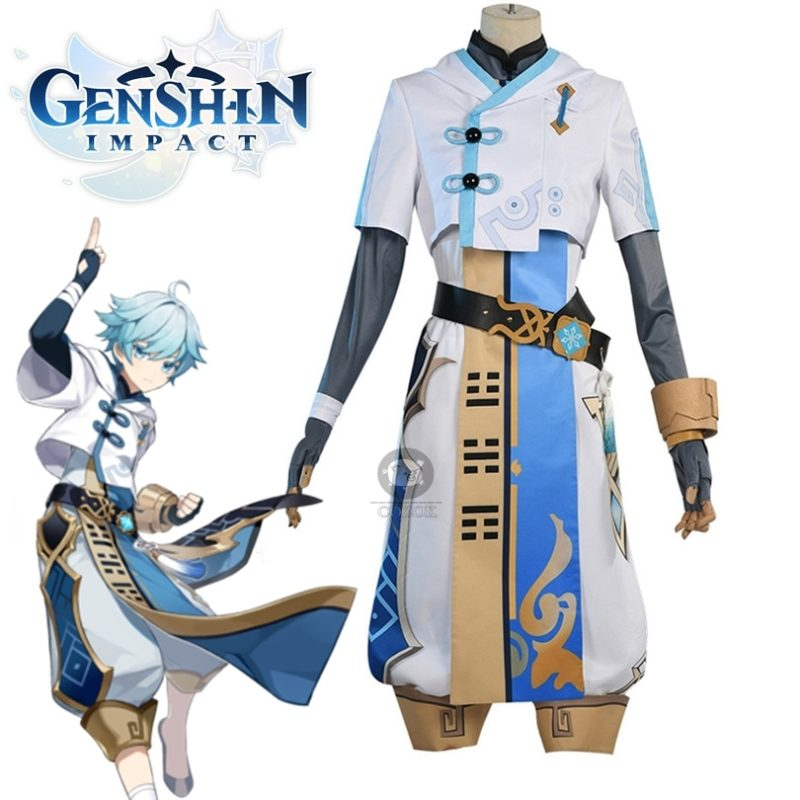 Game Genshin Impact Cosplay Chongyun Cosplay Costume Game Genshin Impact Chong Yun Costume 1