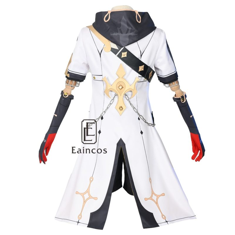Game Genshin Impact Albedo Cosplay Costume Wigs Anime Uniforms Halloween Carnival Outfits Custom Made Men Costumes 3