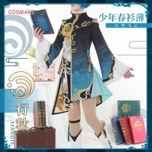 Anime Genshin Impact XingQiu Cosplay Costume Ver. Battle Game Suit Uniform XING QIU Halloween Costumes For Women Men 2021 New 1