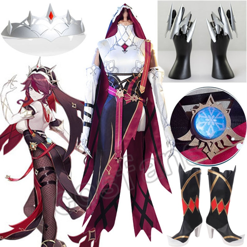 Genshin Impact Rosaria Cosplay Costume Game Suit Dress Uniform Anime Halloween Costumes For Women Outfit 1