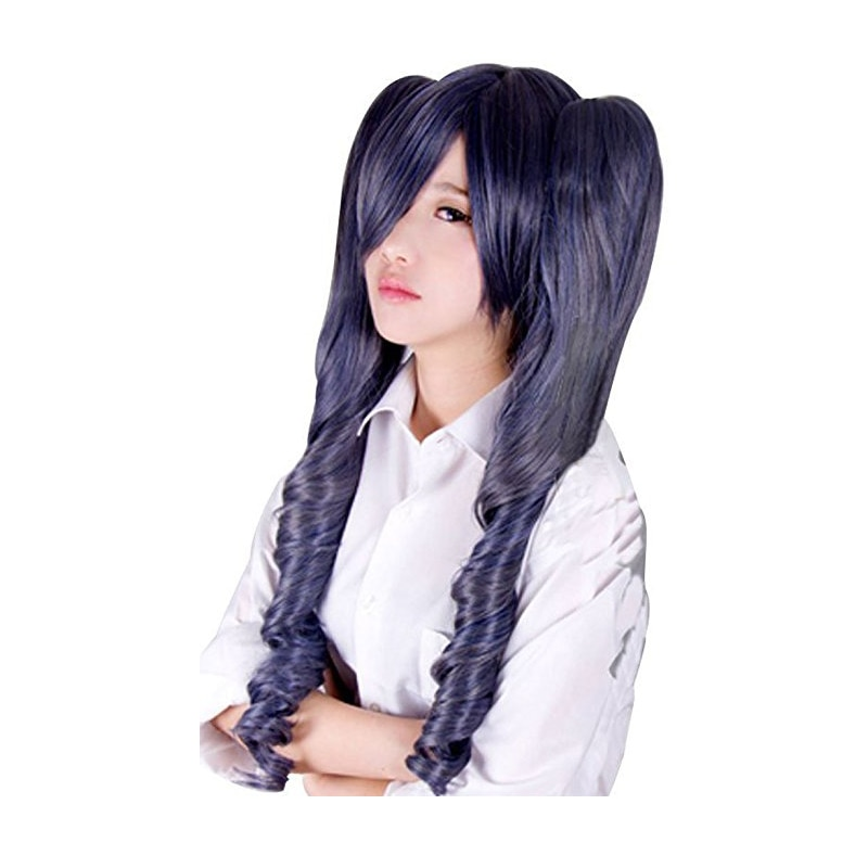 Black Butler Kuroshitsuji Ciel Phantomhive Blue Grey Mix Synthetic Hair Cosplay Wigs With Chip Removable Ponytails 1