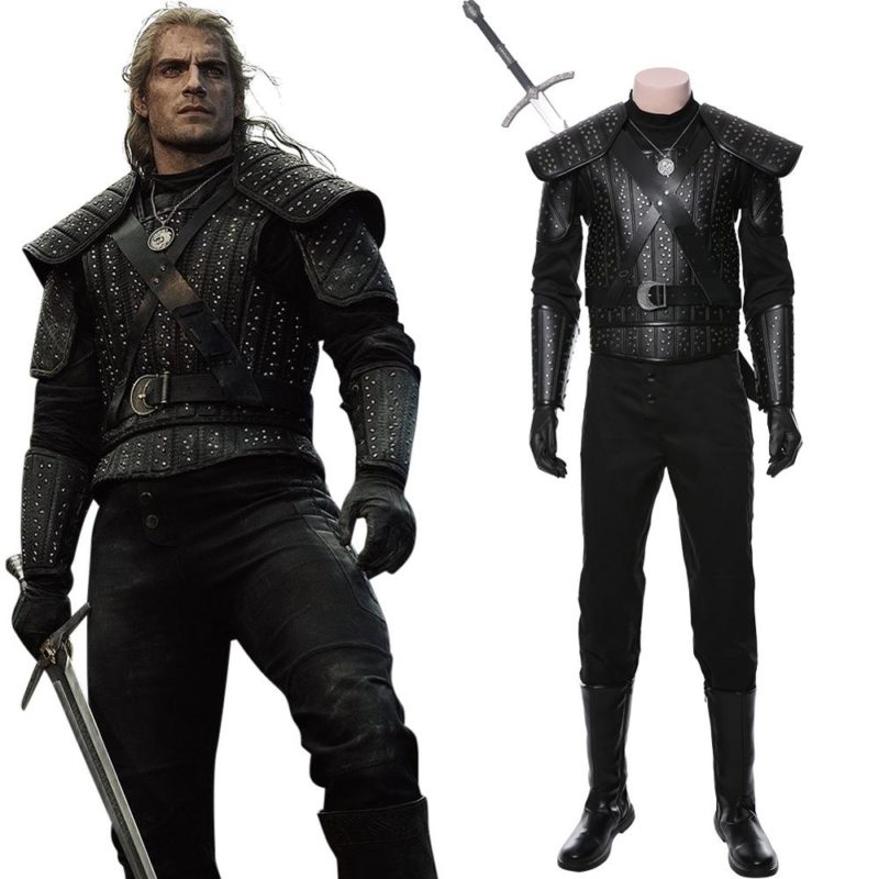 Fast Shipping Anime Geralt Cosplay Witch Costume women autumn winter clothes men coat Halloween Carnival Costume Christmas gift 1