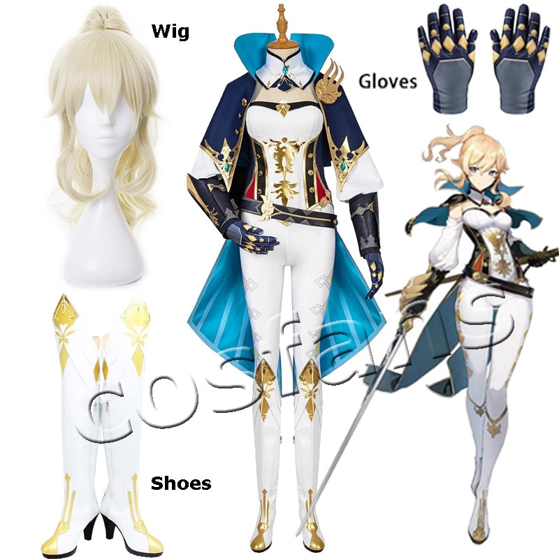 Genshin Impact Jean Cosplay Costume Carnival Halloween Dress Women Performance Outfit Props Genshin Impact Costumes Jean Suits 1
