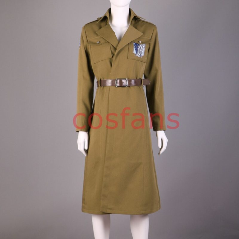 Attack on Titan Season 3 Eren Cosplay Costume Scouting Legion Soldier Officer Uniform Adult Men Halloween Trench Clothing Wigs 2