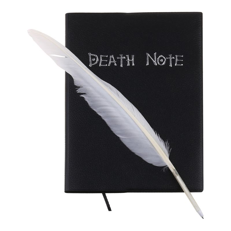 New Death Note Cosplay Notebook & Feather Pen Book Animation Art Writing Journal 1