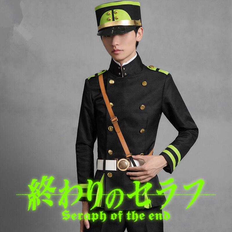 Anime High quality Seraph Of The End Owari no Seraph Yuichiro Hyakuya Uniform Cosplay Costume Full Set Costumes fancy ball party 6