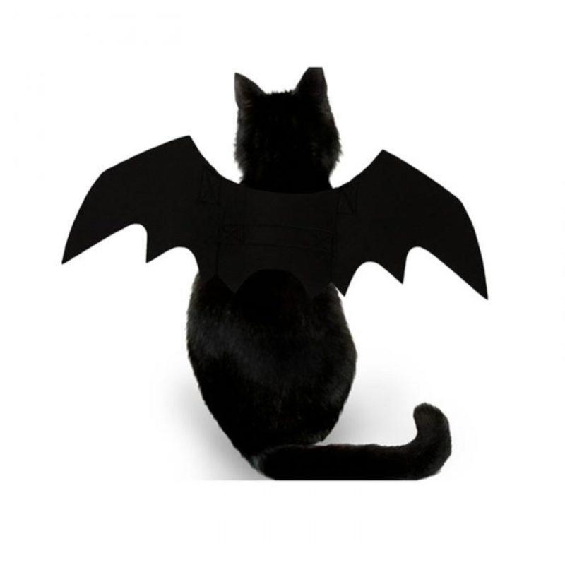 2019 New OLN Pet Dog Cat Bat Wing Cosplay Prop Halloween Bat Fancy Dress Costume Outfit Wings Cat Costumes Photo Props Headwear 4