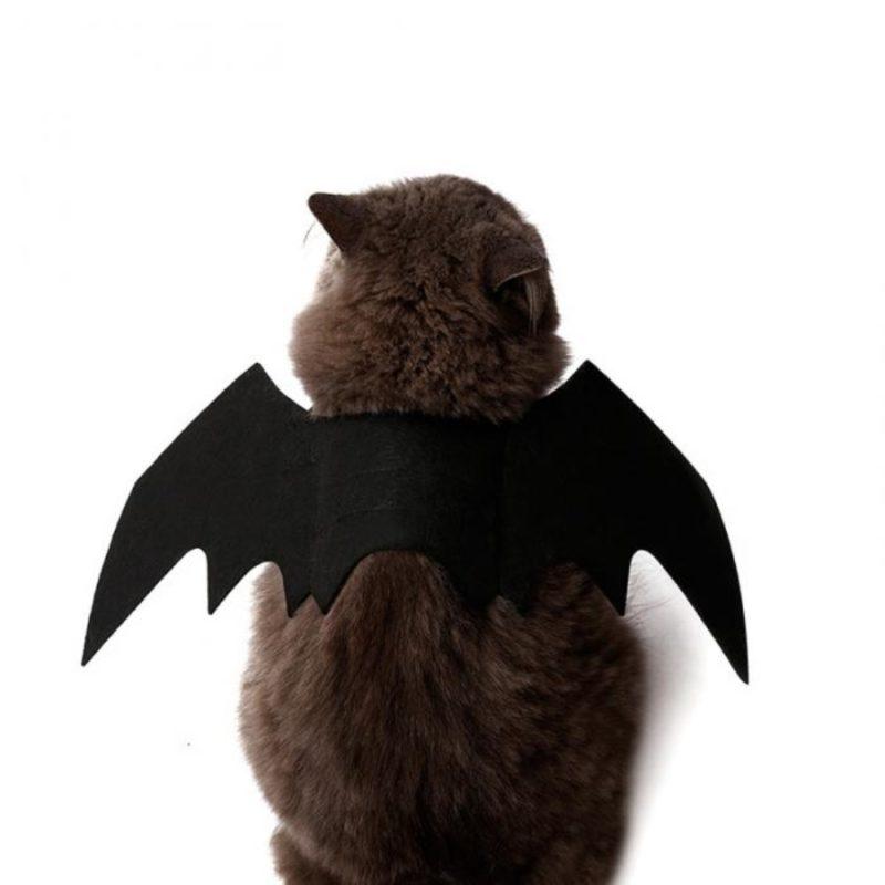 2019 New OLN Pet Dog Cat Bat Wing Cosplay Prop Halloween Bat Fancy Dress Costume Outfit Wings Cat Costumes Photo Props Headwear 2