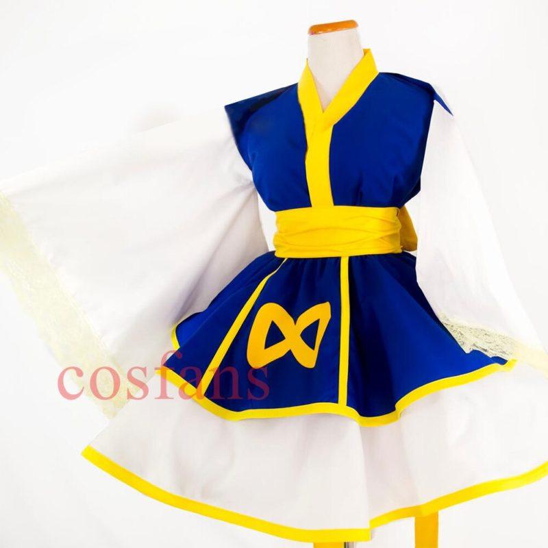 Anime HUNTER×HUNTER Kurapika Women Lolita Kimono Dress Cosplay Costumes Kurapika Kurta Cosplay Shoes HUNTER x HUNTER Kurapika 3