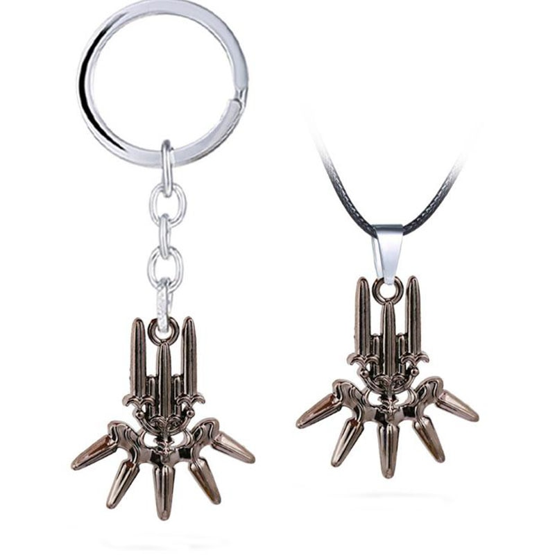 1 Pcs Hot Game NieR Automata YoRHa Neckchain 2B Metal Pendant Model Toy Necklace Keychain Jewelry Cosplay Gift Collection Model 1