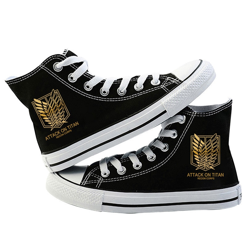 Japanese Anime Attack on Titan Cosplay Casual High Platform Shoes Shingeki No Kyojin Canvas Shoes For Girls Boys Sports Shoes 2