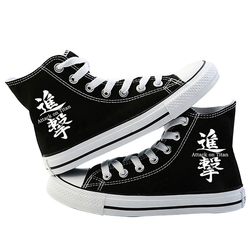 Japanese Anime Attack on Titan Cosplay Casual High Platform Shoes Shingeki No Kyojin Canvas Shoes For Girls Boys Sports Shoes 5